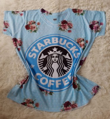T-Shirt Feminina no Atacado Starbucks