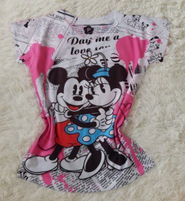 T-Shirt Feminina no Atacado Mickey e Minnie