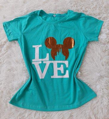 Blusa Feminina no Atacado Love Mickey Verde