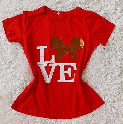 Blusa Feminina no Atacado Love Mickey Vermelha
