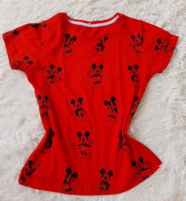 Blusa Feminina no Atacado Mickeys Fundo Vermelho