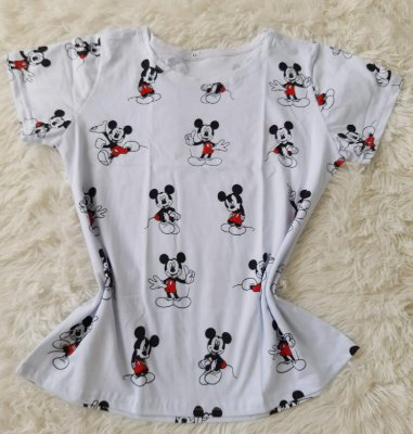 Blusa Feminina no Atacado Mickeys Fundo Branco