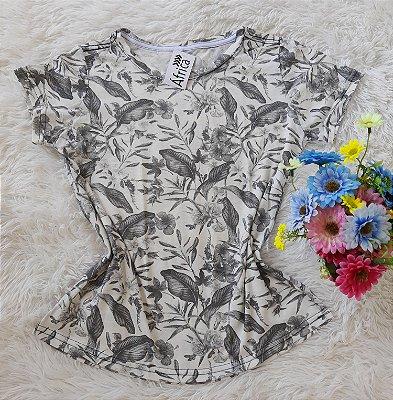Blusinha Feminina no Atacado Folhas e Flores