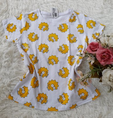 T-Shirt Feminina Para Revenda Lisa Rostos