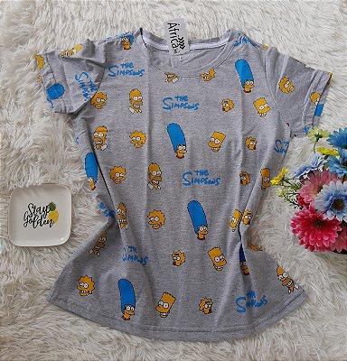 T-Shirt Feminina Para Revenda Simpsons