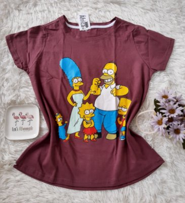 Tshirt Feminina Para Revenda Os Simpsons