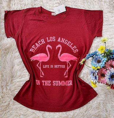 T-Shirt Feminina no Atacado Para Revenda Flamingo