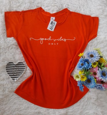 TShirt Feminina no Atacado Good Vibes