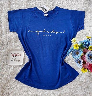 T-Shirt Feminina no Atacado Good Vibes