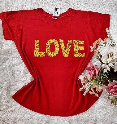 T-Shirt Feminina no Atacado Para Revenda Love
