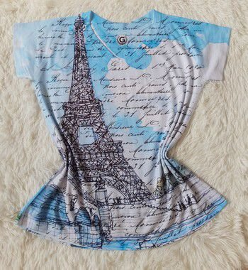 T Shirt Feminina no Atacado Paris