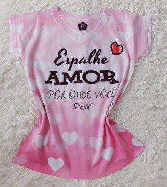 T-Shirt Feminina no Atacado Espalhe Amor