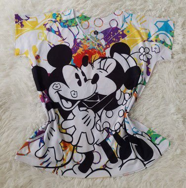 Tee Feminina no Atacado Mickey Minnie Grandes