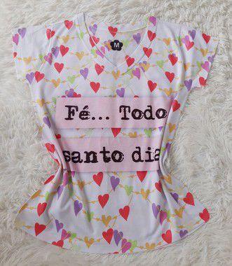 T-Shirt Feminina no Atacado Fé Todo Santo Dia