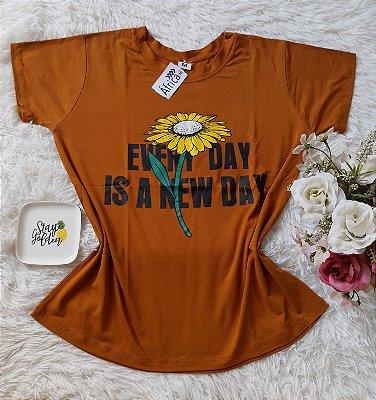 Tshirt Feminina Para Revenda Girassol