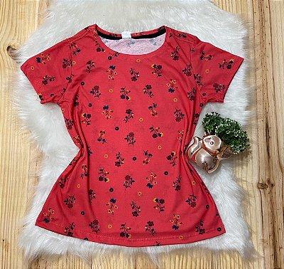 T shirt Feminina Para Revenda Flores Pequenas
