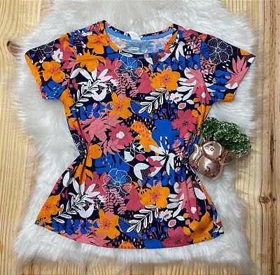 Tshirt Feminina Para Revenda Flores Coloridas
