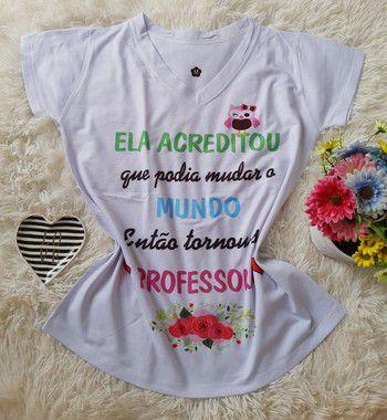 t-shirt profissão no atacado Professora