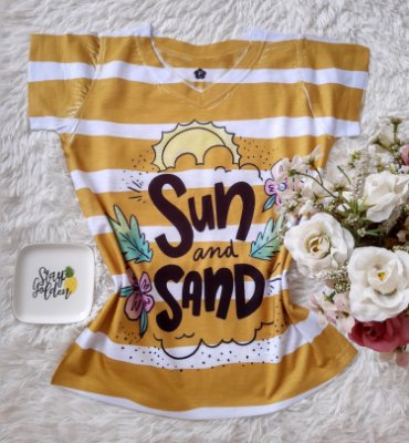 T-Shirt Feminina no Atacado Sun and Sand