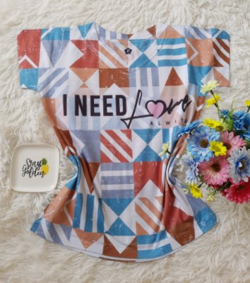 T-Shirt Feminina no Atacado I Need Love