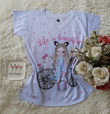 T-Shirt Feminina no Atacado Girl Bike