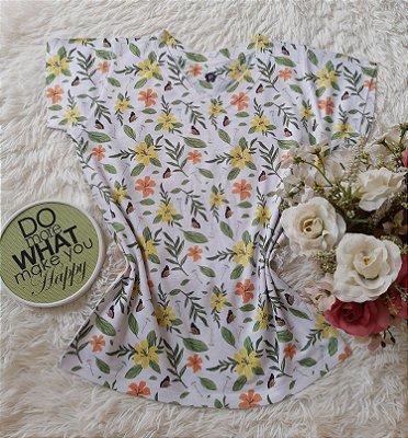 T-Shirt Feminina no Atacado Folhas e Plantas