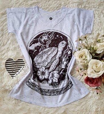 T-Shirt Feminina no Atacado Tartaruga