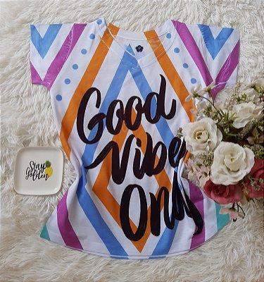 T-Shirt Feminina no Atacado Good Vibes Only