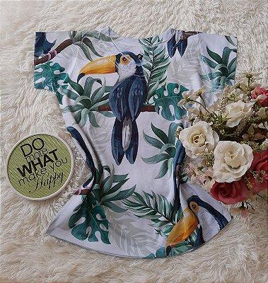 T-Shirt Feminina no Atacado Tucanos Grandes