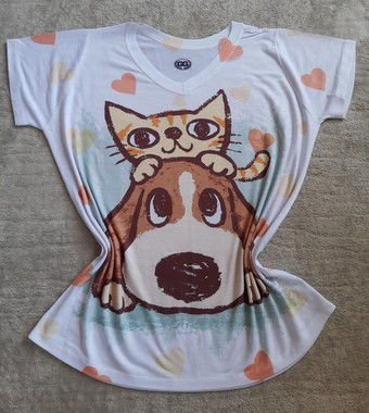 Blusinha Feminina Para Revenda Cat Dog