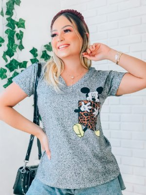T-Shirt no Atacado Mickey Bolso
