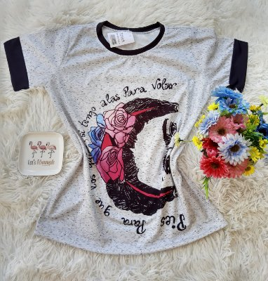 T-Shirt Feminina Frida Flores