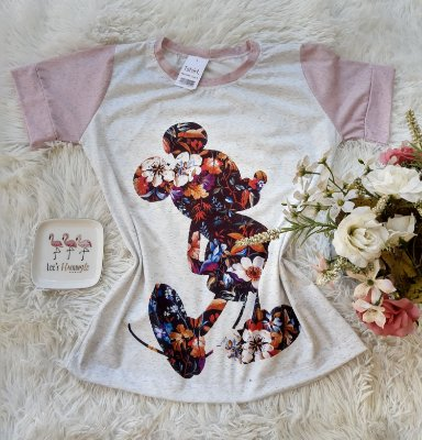T-Shirt no Atacado Mickey Floral