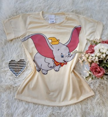 T-Shirt no Atacado Dumbo Creme