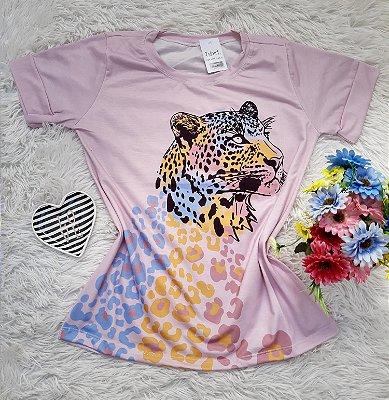 T-Shirt No Atacado Onça Colorida