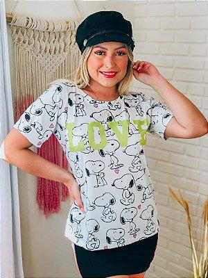 T-Shirt No Atacado Snoopy Love