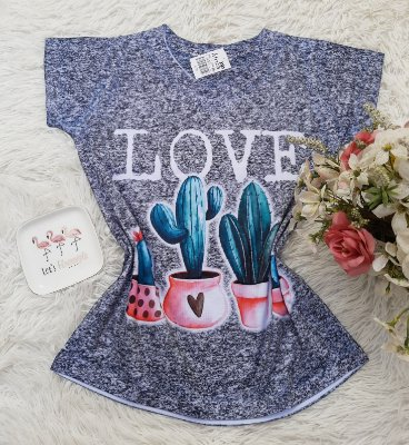 T-Shirt No Atacado Cacto Love