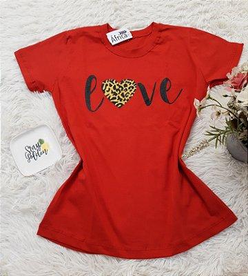 Camiseta No Atacado Love Vermelho
