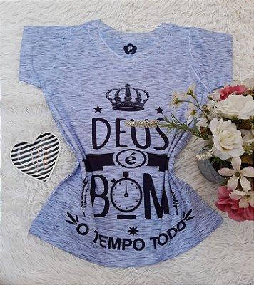 T-Shirt No Atacado Deus é Bom