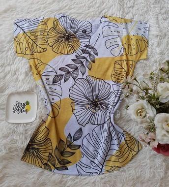 T-Shirt No Atacado Floral Amarelo