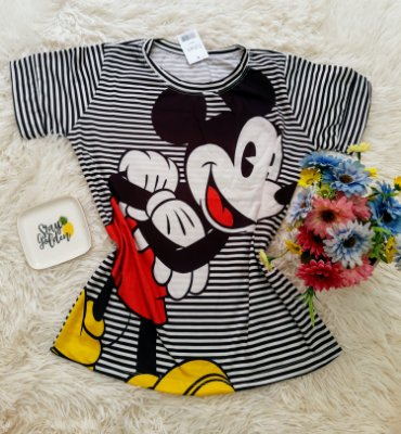 T-Shirt No Atacado Mickey Listras