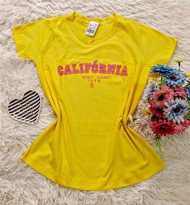 Camiseta No Atacado California  Amarelo