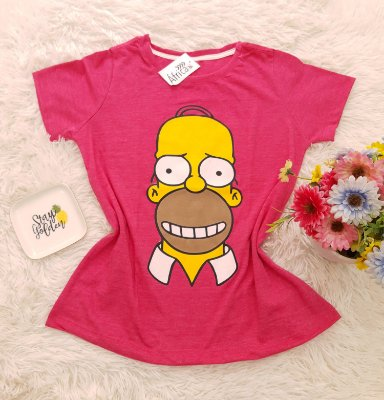 Camiseta No Atacado Homer Rosa