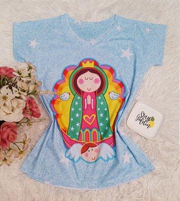 T-Shirt No Atacado Santa Azul