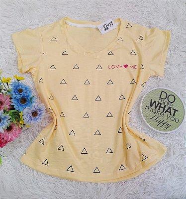 Camiseta No Atacado Love Me Amarelo