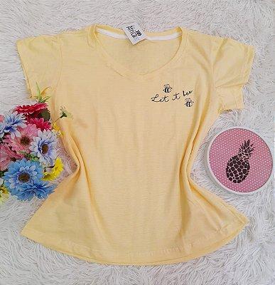 Camiseta No Atacado Let Amarelo