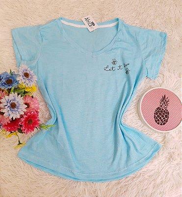 Camiseta No Atacado Let Azul