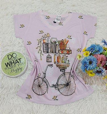 T-Shirt No Atacado Bike Livros