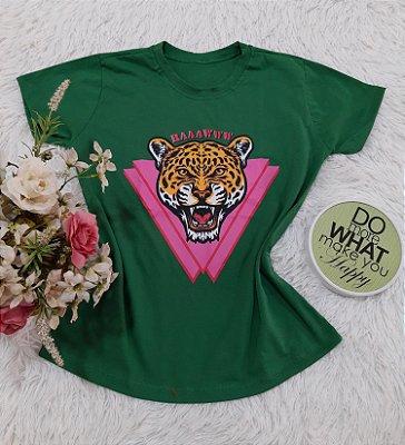 Camiseta No Atacado Tigre Verde