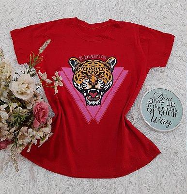 Camiseta No Atacado Tigre Vermelho